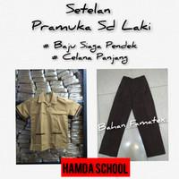 Setelan Pramuka Sd Laki Baju Siaga Pndek Celana Pnjang Seragam Sekolah - Kelas 1