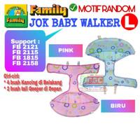 Jok Family Baby Walker ORI Ukuran L Biru Putih 2115 1815 2121 2158