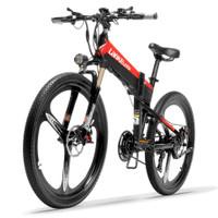TaffSPORT Lankeleisi XT600 Sepeda Listrik Lipat Elite Ver 48V 10.4AH - Black Red