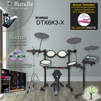 Drum Elektrik Yamaha DTX6K3X + Pedal/ DTX6K3-X/ DTX 6K3X/ 6K3 / 6K3X