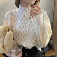 import turtle lace brukat neck baju atasan wanita pesta mewah elegan