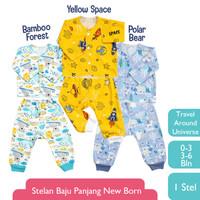 LIBBY (1 STEL) Stelan Baju Panjang Newborn Motif Travel