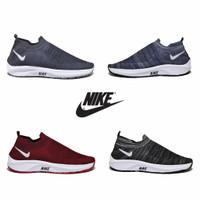 Sepatu Sport Sneakers Pria Wanita Tanpa Tali Nike Slip On Rajut