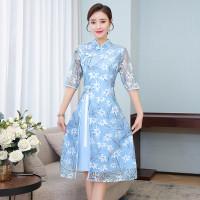 ALICE DRESS - PREMIUM DRESS CHEONGSAM QIPAO IMPORT HK BIG SIZE/JUMBO - XXL