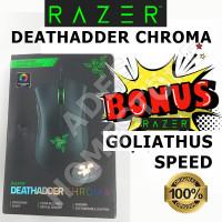 Razer DEATHADDER CHROMA Original 100% (Bukan OEM, Bukan KW) +Goliathus