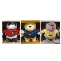 Boneka We Bare Bears Miniso - We Bare Bears Plush Toy with Clothes