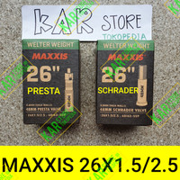 BAN DALAM MAXXIS 26 X 1.5 / 2.5 PRESTA SCHRADER WELTER WEIGHT