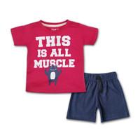 BEARHUG Baju Bayi / Anak Setelan Laki-laki / Cowo XUF442 - 9-12 Bulan
