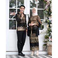 Batik Couple Kebaya Brokat Prada Baju Pesta Kondangan Lamaran Terbaru