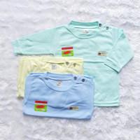 Baju bayi / kaos oblong bayi uscita lengan panjang ( 3 PCS )seri warna