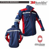Baju Wearpack Semi Jaket Safety Resleting Seragam Kerja K3 Pita 3M