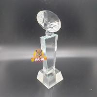 P10-S Plakat kristal Trophy Crystal tropi Golf Piala Dunia tinggi 15CM