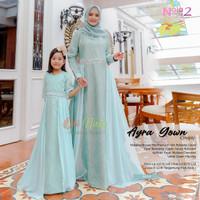 Baju Gamis Couple Ibu Dan Anak Ayra Gown Bahan Broklat Tile