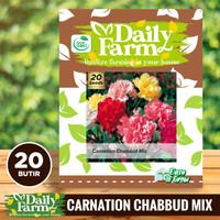 Benih Bunga Carnation Chabaud Mixed - Bibit Bunga Anyelir - Daily Farm