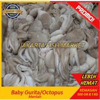 Baby Octopus Gurita Frozen Kecil isi 30-40 ekor 1 kg