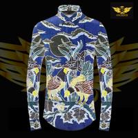 baron prada silver motif 1 bahan batik tulis sutra ATBM ayam biru