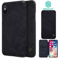 Nillkin Qin Flip Case iPhone XS Max - Leather Cover Stand Dompet Ori