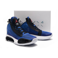 Sepatu Basket Nike Air Jordan 34 Blue White Black