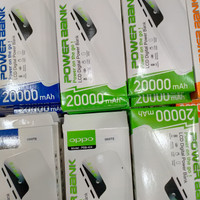 Power Bank Brand Samsung Oppo Vivo Xiaomi Realme LED 20.000 mAh