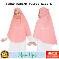Mylaa hijab bergo maryam instan bahan wolfis premium grade A size L