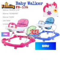Family Baby Walker FB 136 L Harga Promo Pink Blue