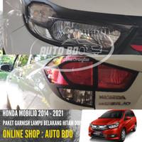 Paket Garnish Lampu Depan Belakang New Mobilio Hitam
