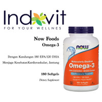 Now Foods Omega-3 180 EPA/120 DHA 180 Soft Jaga Jantung Kardiovaskular