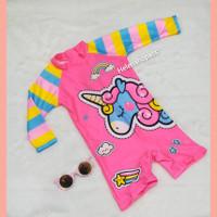 baju renang anak unicorn rainbow 1thn-5thn import swimsuit