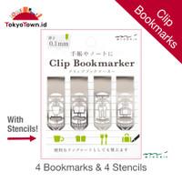 Midori Bookmark Clip Stencil for Notebook Journal Set of 4 index