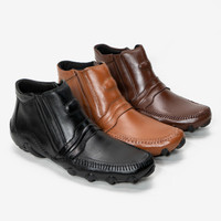 Sepatu Boots Pria Kulit Asli Boot Gazen Semi Formal Fordza 2525