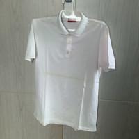 Baju Polo Shirt Pria Hugo Boss White Pink size M