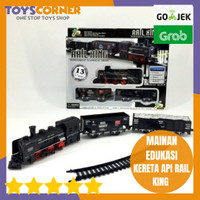 RAIL KING TRAIN SET REPLIKA KERETA API MAINAN