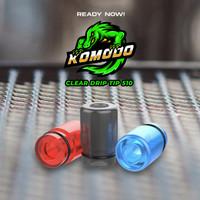 Komodo Drip Tip 510 Clear Series Authentic / Komodo 510 Drip Tip Clear
