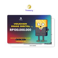 Voucher Emas Fisik Treasury - Rp100.000.000