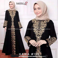 Abaya Turkey Hitam Dubai Gamis Arab Bordir Baju Wanita Muslim Syar'i