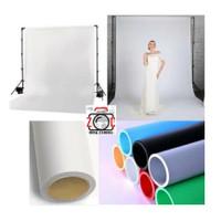Background Paper Putih 2.7x11m Backdrop Kertas Studio White Foto Laya