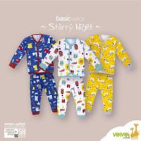 Baju Bayi Piyama Velvet Junior Lengan Panjang Set