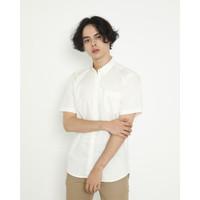 Kemeja Pria Erigo Short Shirt Fairry Katun White