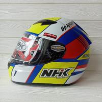 HELM NHK GP1000 SXR BLUE AQSO YELLOW NHK GP 1000 NHK GP1K