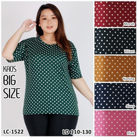 Kaos Oblong Wanita Baju Murah Atasan Motif Polkadot Jumbo LC1522Big