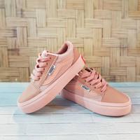 sepatu anak perempuan import vans oldskool rosy pink tali 16-35