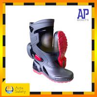 Sepatu Boot AP Moto 3 (Hitam Merah)