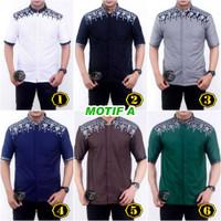 Baju Batik Koko Muslim Kombinasi Seragam Busana Muslim Pria Murah