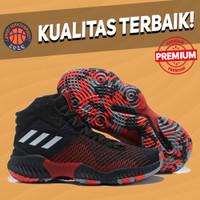 Sepatu Basket Sneakers Adidas Pro Bounce 2018 Black Red Bred HITAM