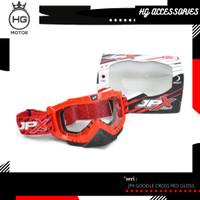 JPX Cross Goggle Kacamata - Red Gloss / Clear