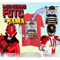 Baju Anak Power Rangers Pat Ranger 2 Red Custom