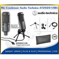 COD PAKET MIC CONDENSER AUDIO TECHNIA AT2020 USB+ GARANSI RESMI ORI