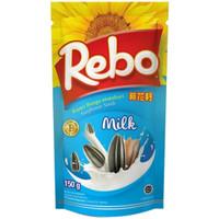 Rebo Milk Kuaci Kwaci Biji Bunga Matahari 150gram 150 gram