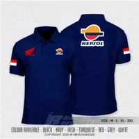 Polo Shirt Kaos Polo Logo Honda Repsol T-shirt Otomotif Motor Fremium