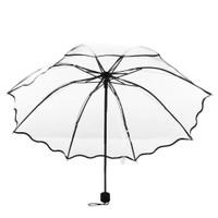 Payung LIPAT TRANSPARAN TABASA Bening Korea Jepang Termurah.